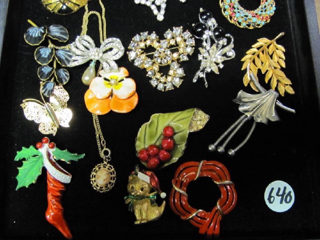 Vintage Brooch Grouping/Rhinestones - 2