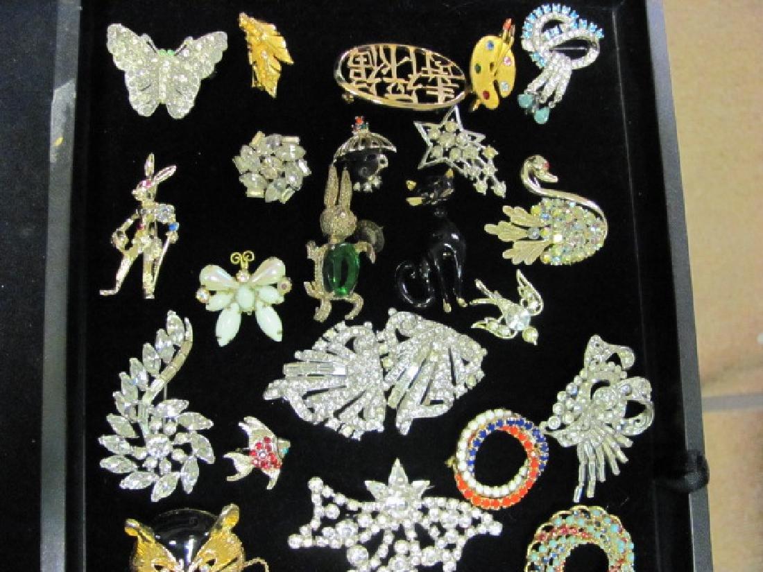 Vintage Brooch Grouping/Rhinestones - 3