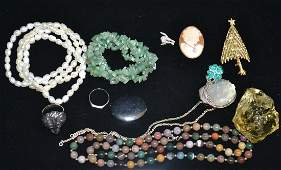 Stone Sterling Costume Jewelry Grouping
