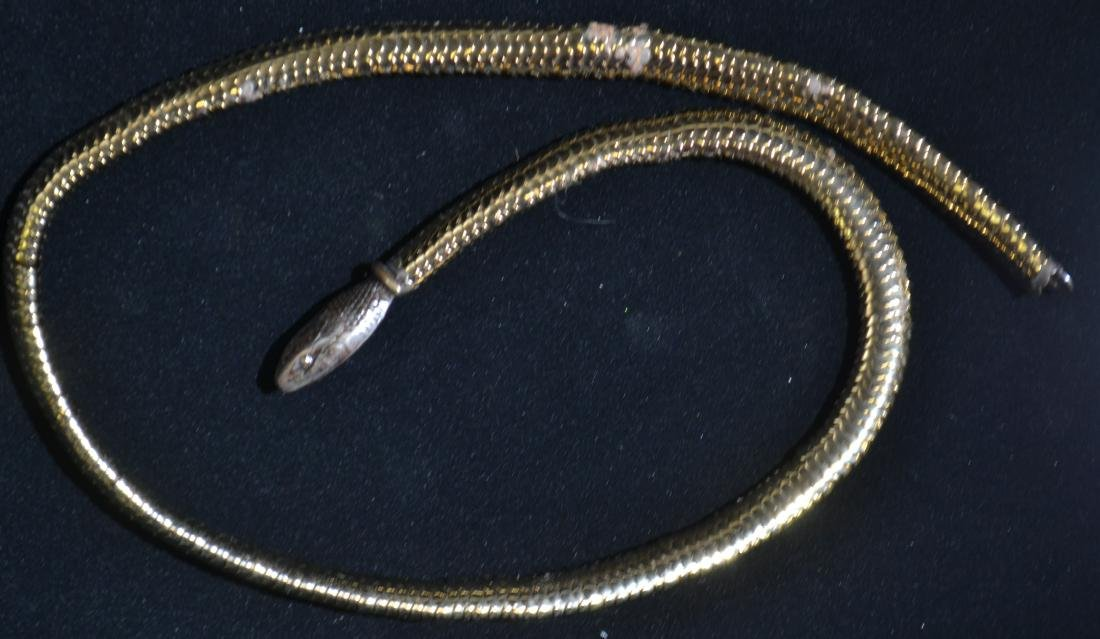 Yves St. Laurent Vintage 1940's Snake Necklace