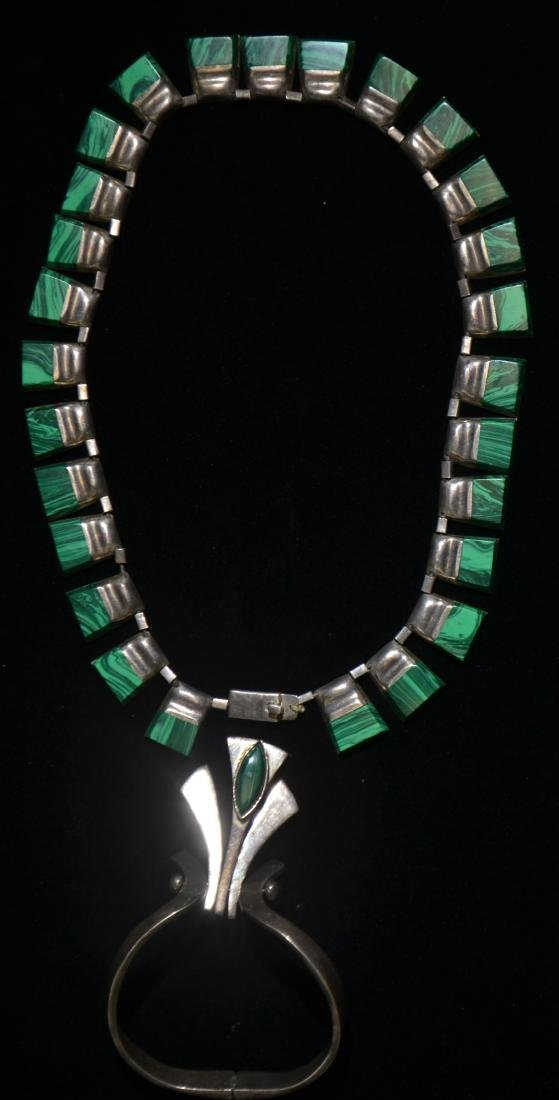 Malachite Necklace and Bracelet
