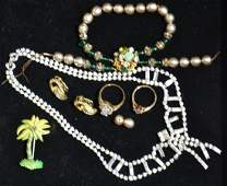 Miriam Haskell Green and Pearl Bracelet