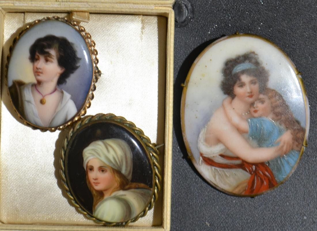 Three Fine Portrait Pins