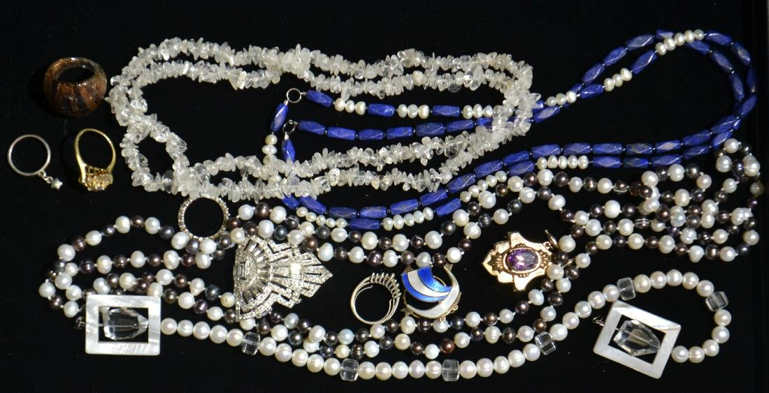 Stone and Pearl Jewelry Grouping