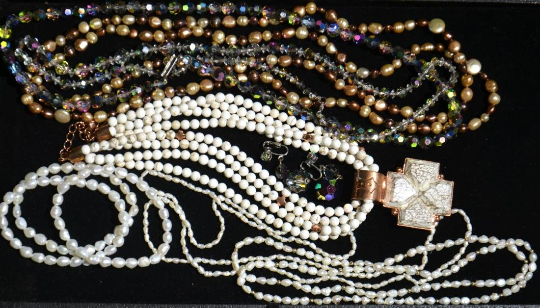 Honora Pearls and Copper Jewelry Grouping