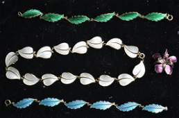 Enameled  Sterling Jewelry