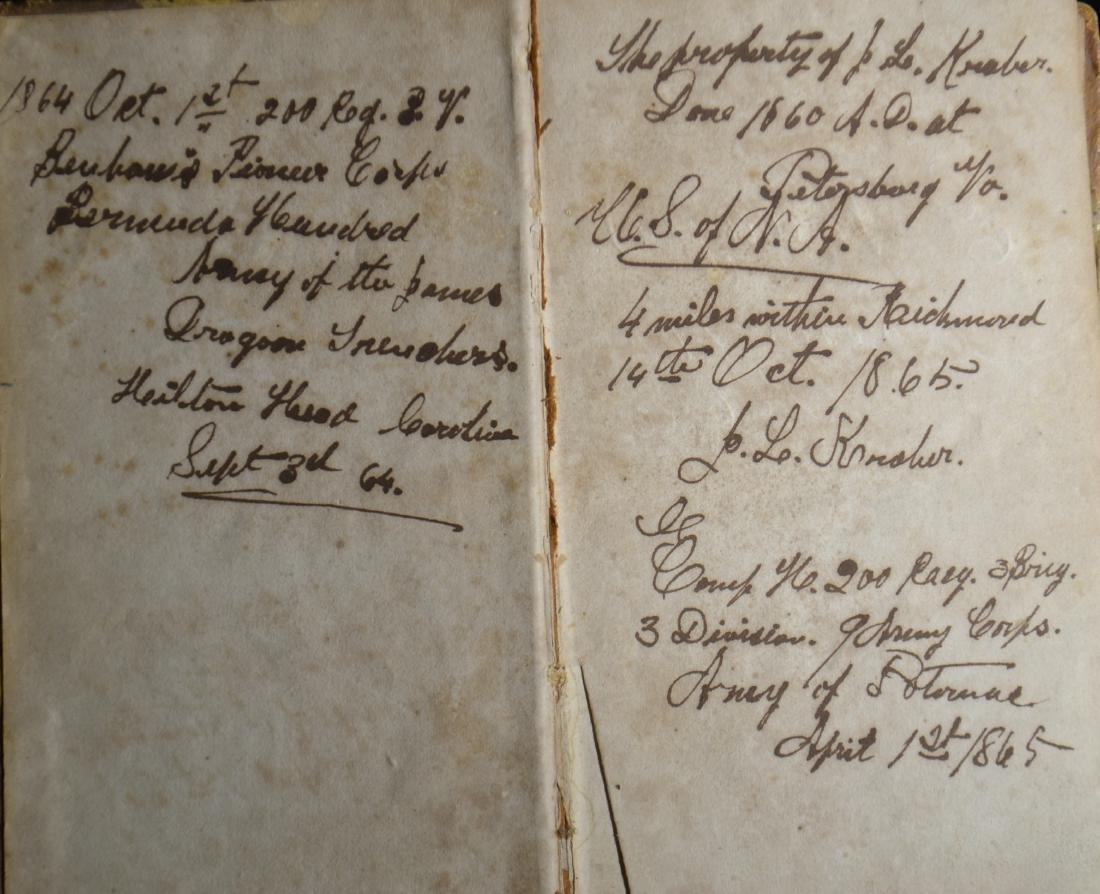 Civil War Era Book with Diary - 3