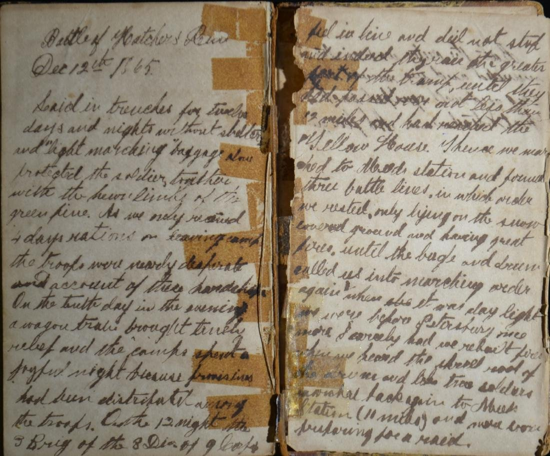 Civil War Era Book with Diary - 4