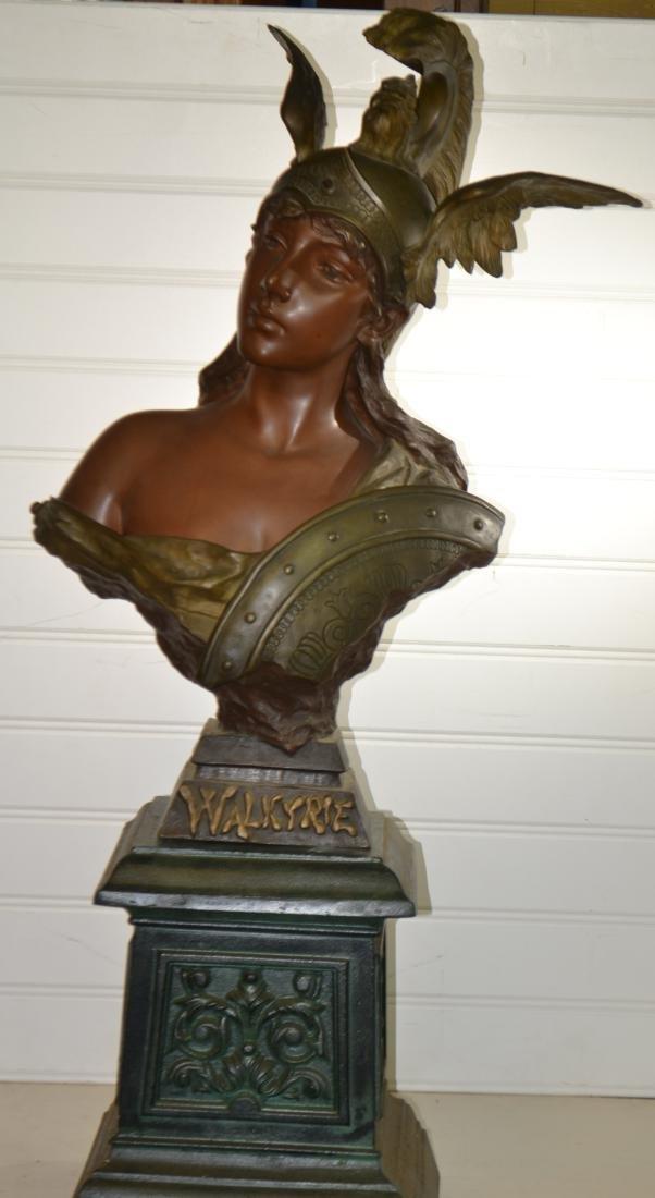 Bronze Valkyrie by E. Villanis - 2 1/2 Feet