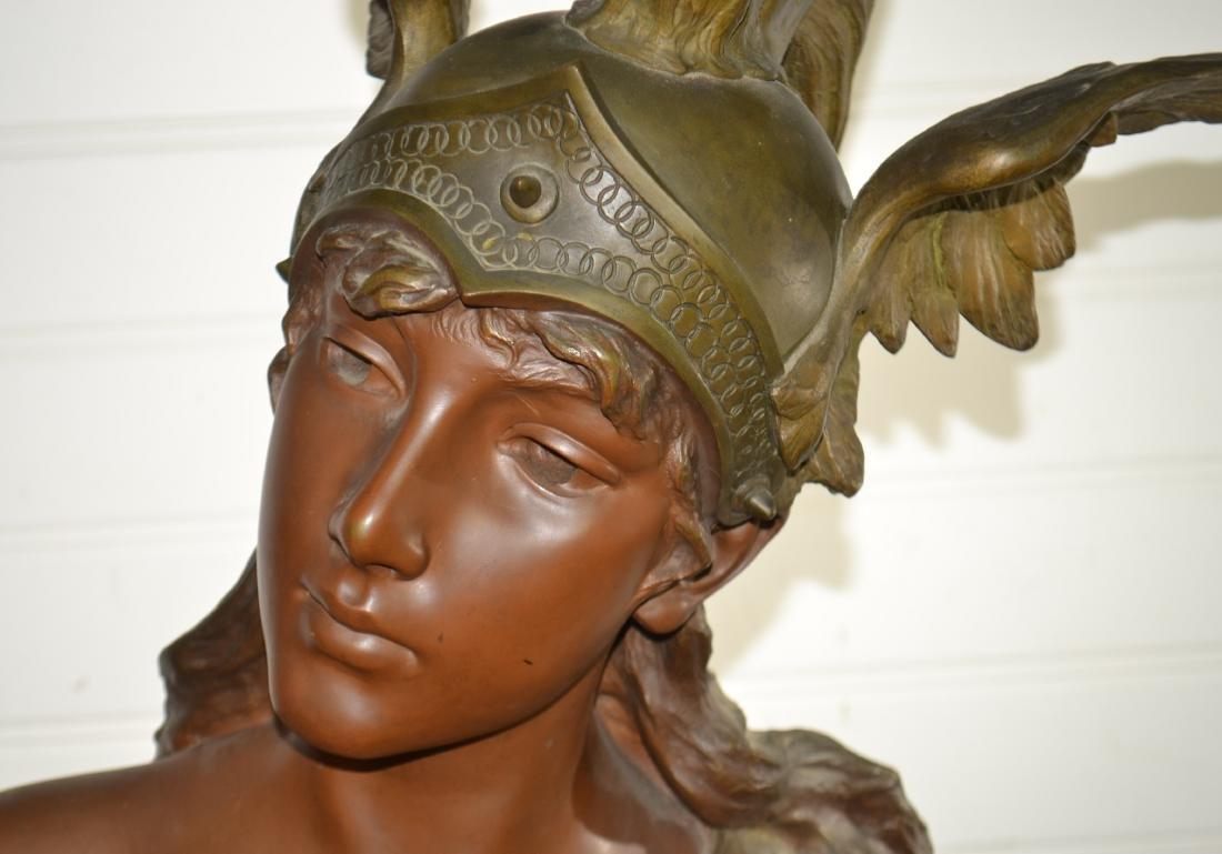 Bronze Valkyrie by E. Villanis - 2 1/2 Feet - 3