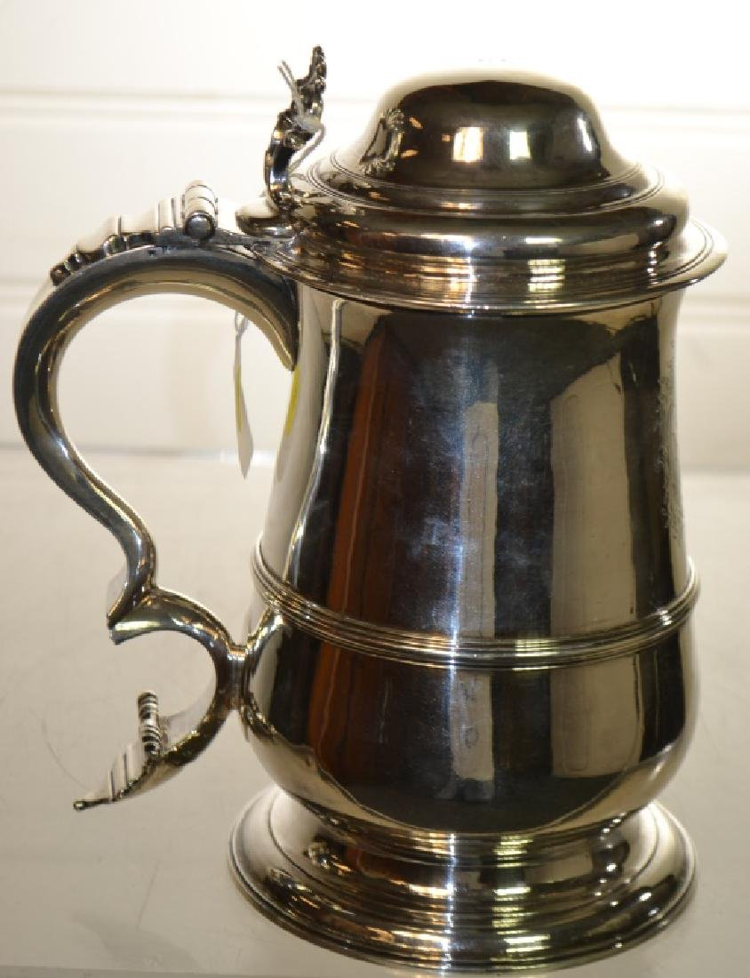 George III Sterling Silver Lidded Tankard 1770