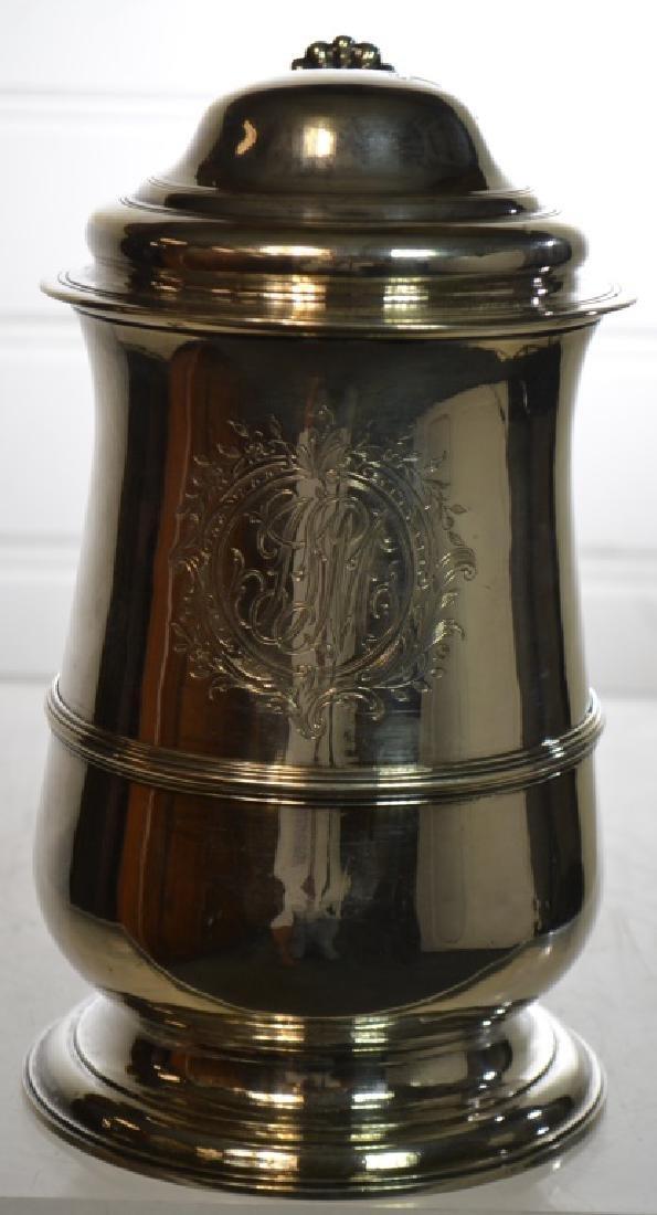 George III Sterling Silver Lidded Tankard 1770 - 2