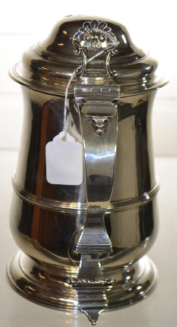 George III Sterling Silver Lidded Tankard 1770 - 3