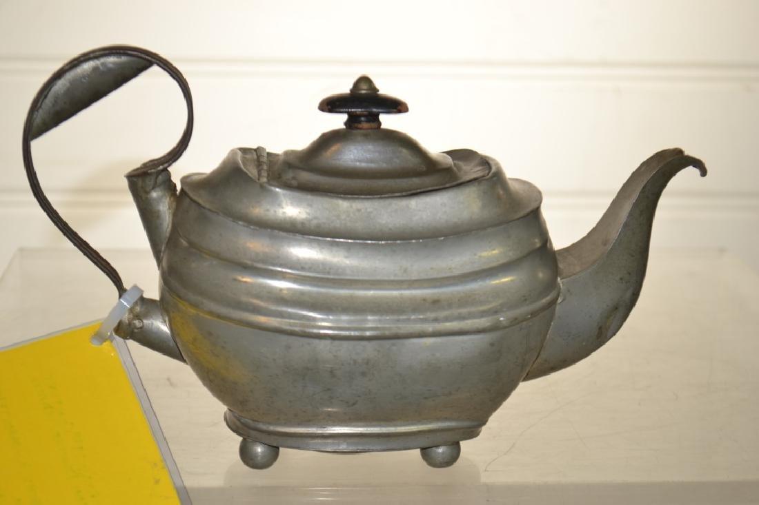 19th Century American Pewter Teapot - 2