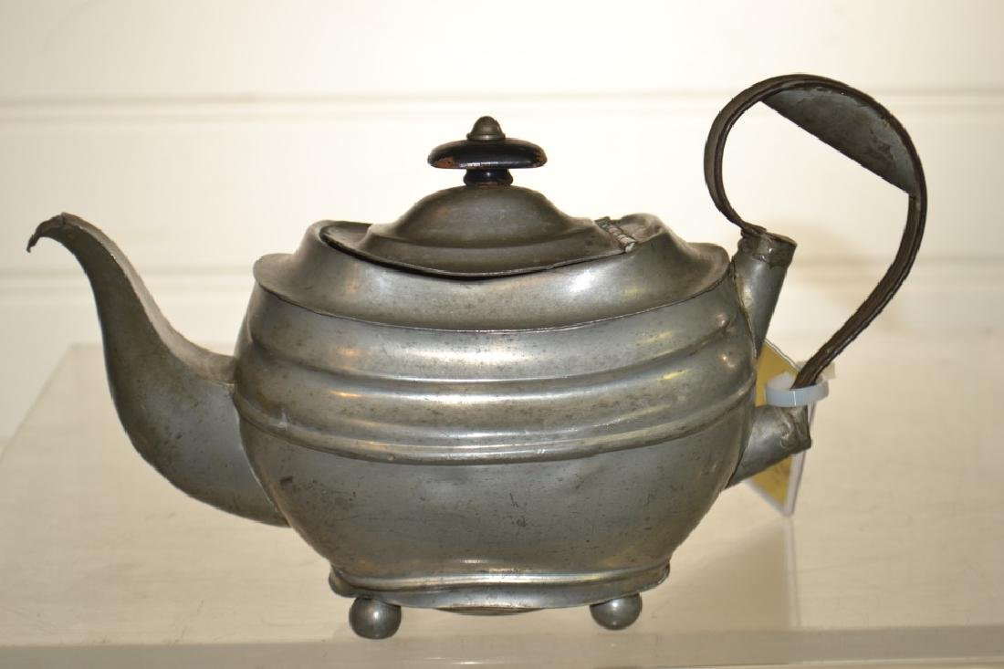 19th Century American Pewter Teapot - 3