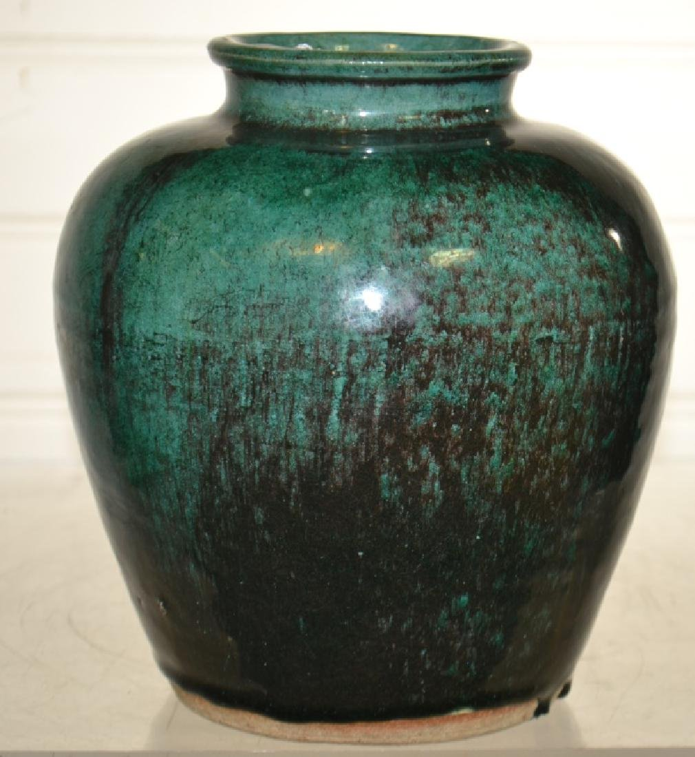 Antique Chinese Green Glaze Ginger Jar