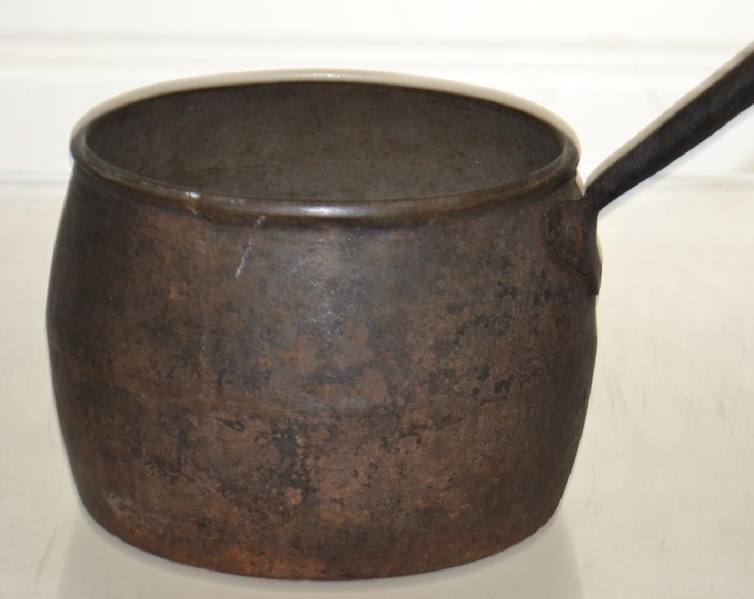 Antique English Iron Pot - 2