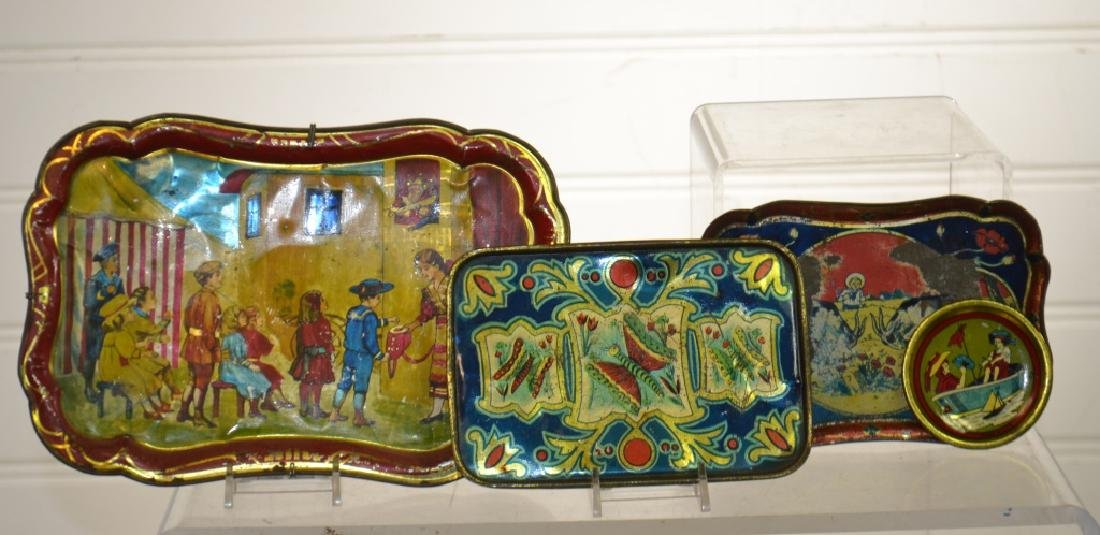 Antique American Child's Toleware Trays