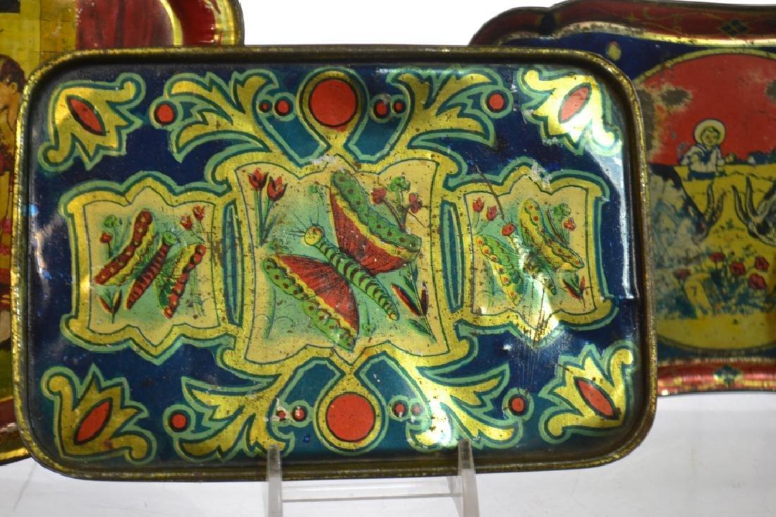 Antique American Child's Toleware Trays - 2
