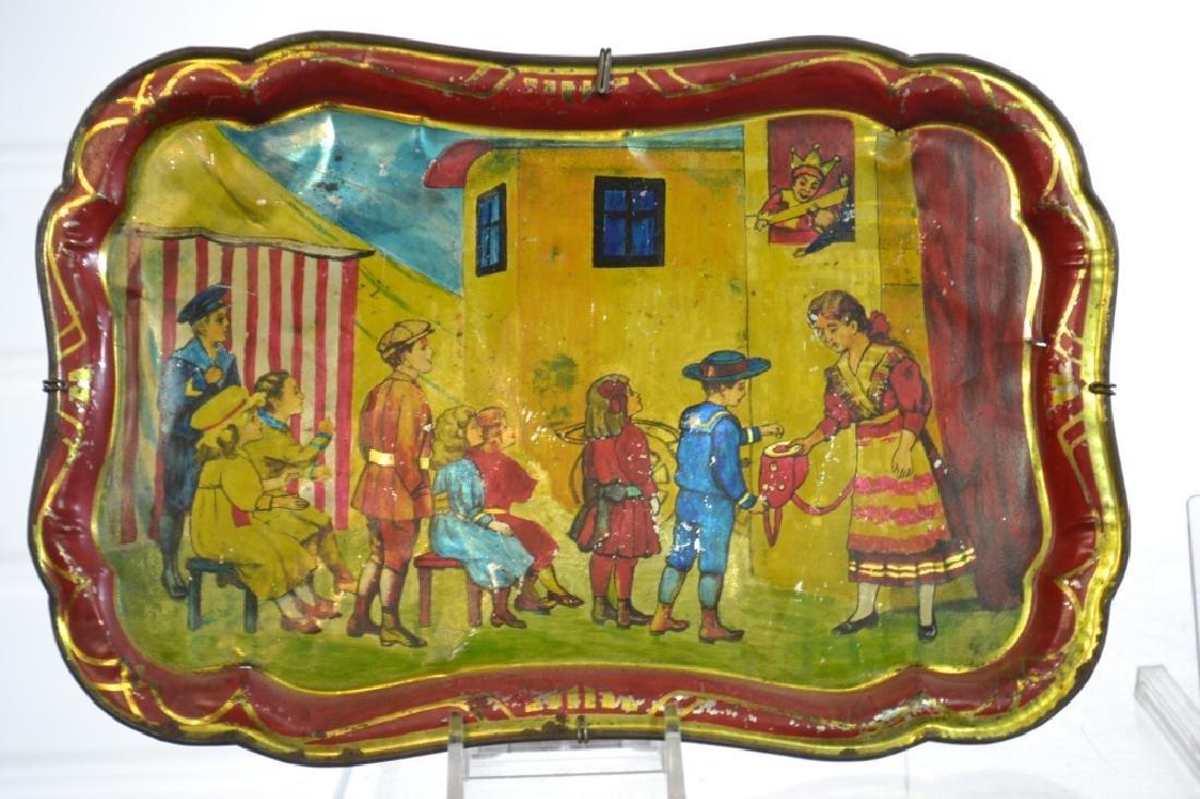 Antique American Child's Toleware Trays - 5