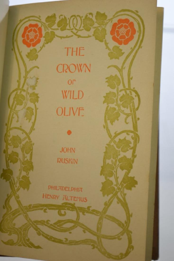 """1895 Edition Ruskin's """"The Crown of Wild Olive"""" - 2"""