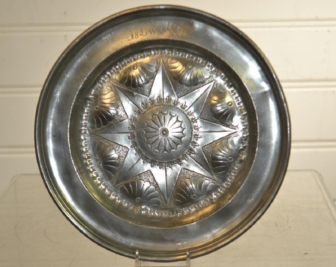 19th Century German Pewter Plate