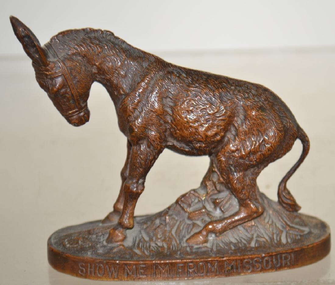 Bronze Figure of a Mule -  World's Fair 1904