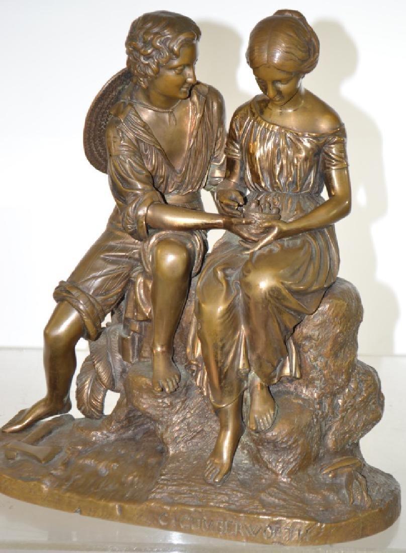 "C. Cumberworth Bronze ""The Nest"""