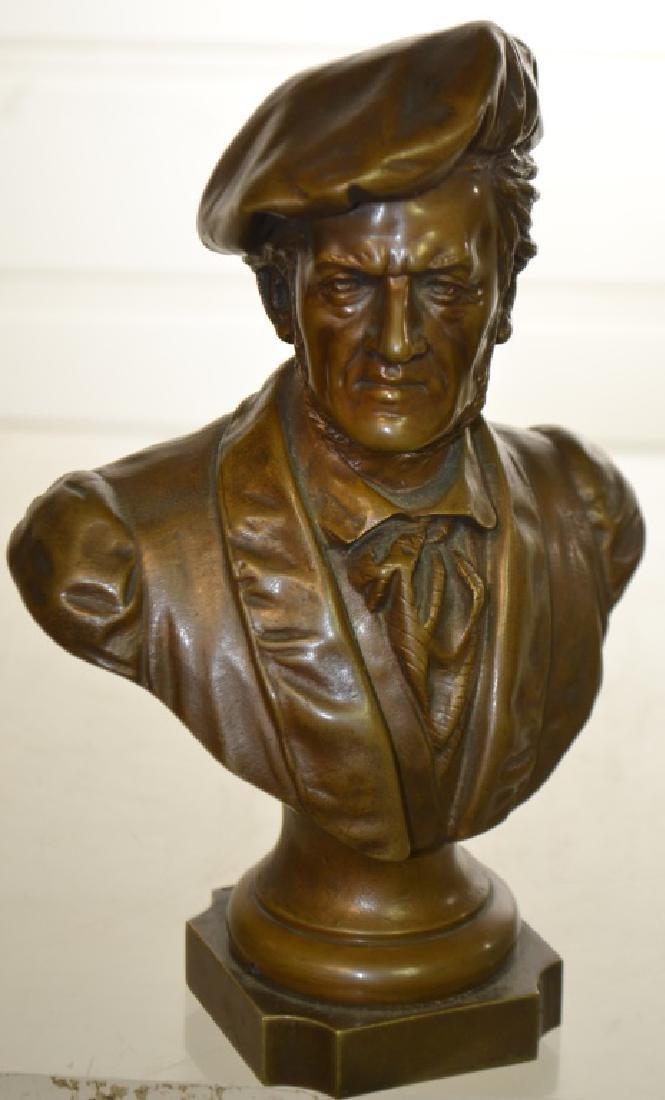 """Bronze Bust by """"E. Bromel Berlin 1897"""""""