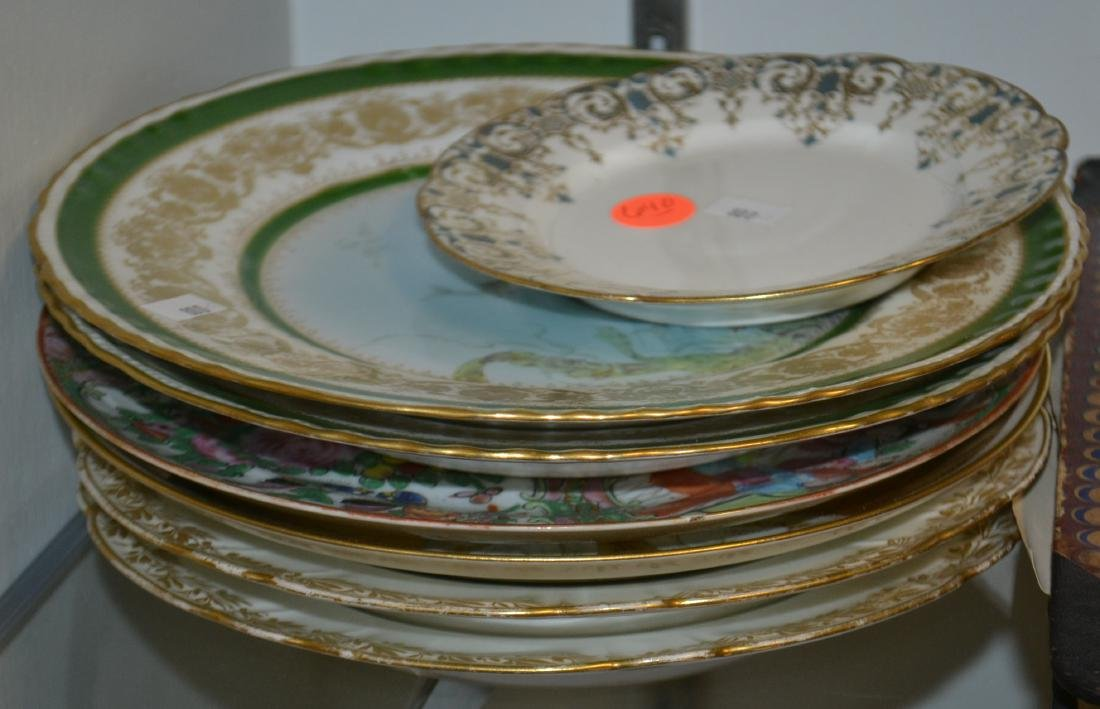 Limoges Fish Plates and Others