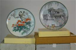 Sixteen Chinese Collector Plates