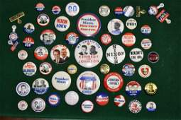 Grouping of Political Pin Backs 1960s