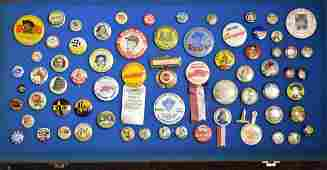 Collection of Mixed Vintage Pin Backs