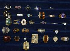 Collection of Costume Jewelry and 10k Gold Rings