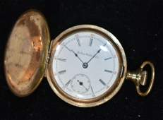 """""""Solar Watch Company"""" Gold Filled Pocket Watch"""