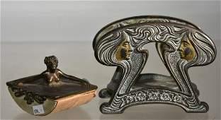 Art Nouveau Letter Holder and Ink Blotter