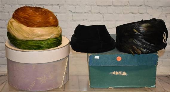 Three Vintage Ladys Hats