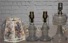 Three Vintage Lamps
