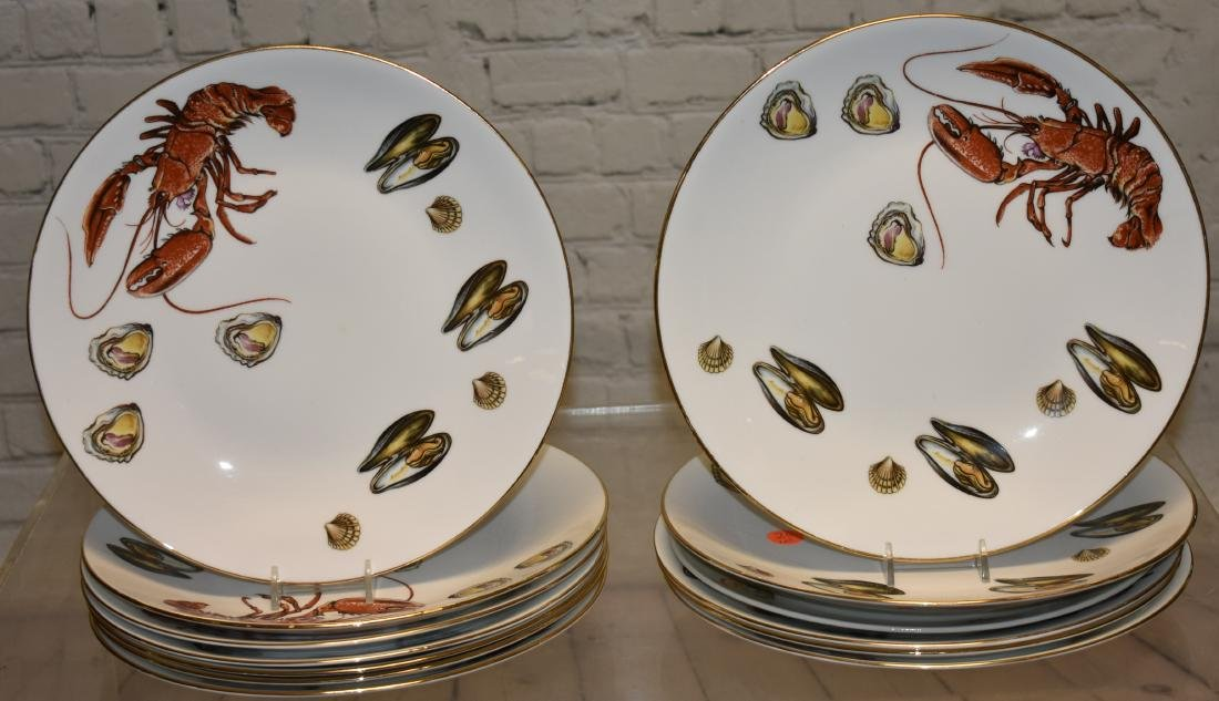 """Set of """"Queensberry"""" Lobster Pattern Plates"""