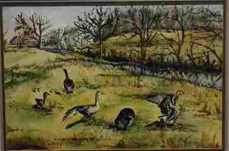 Watercolor of Ducks
