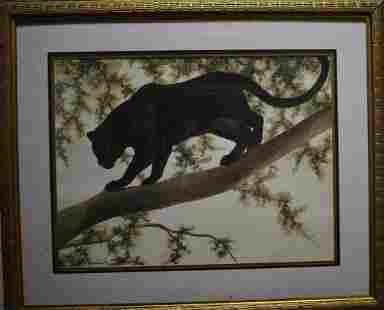 Print of Black Leopard by I H Farnsworth