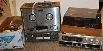 Vintage Stereo Equipment Grouping