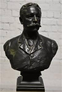 Bronze of Teddy Roosevelt signed Van Der Straeten