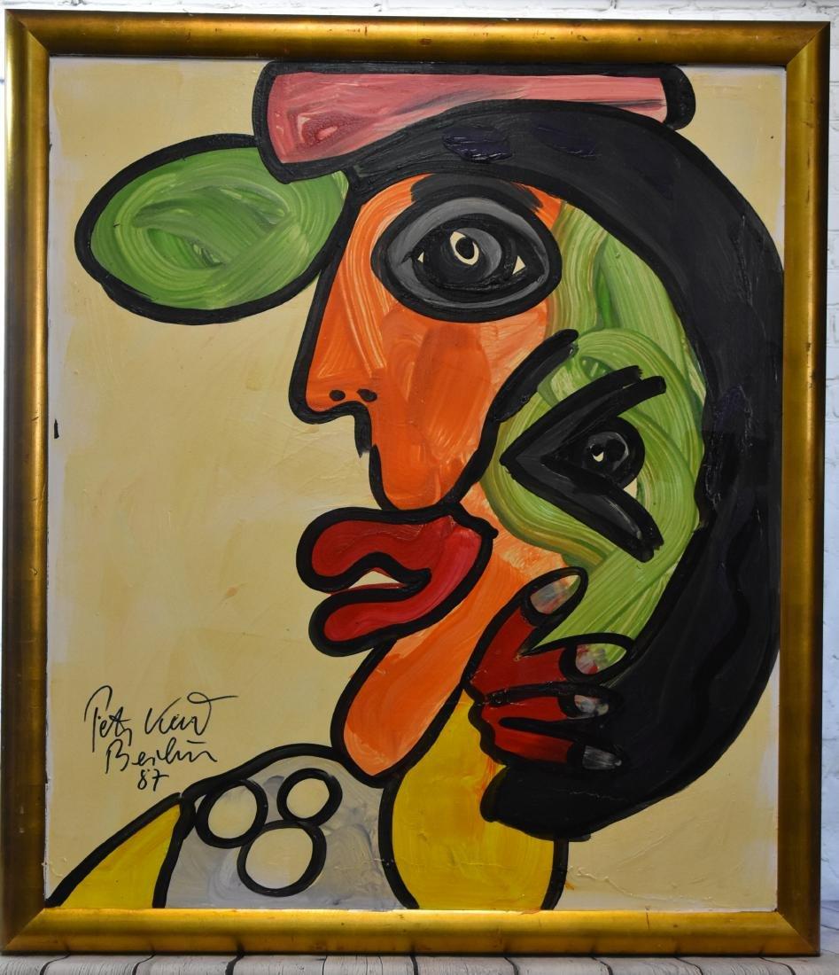 Oil Portrait on Board by Peter Keil