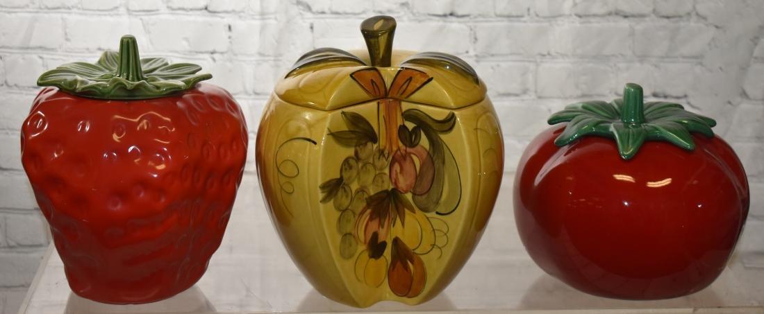 Three Fruit Shaped Cookie Jars