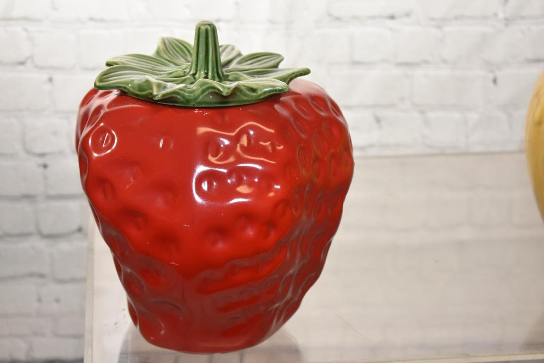 Three Fruit Shaped Cookie Jars - 4