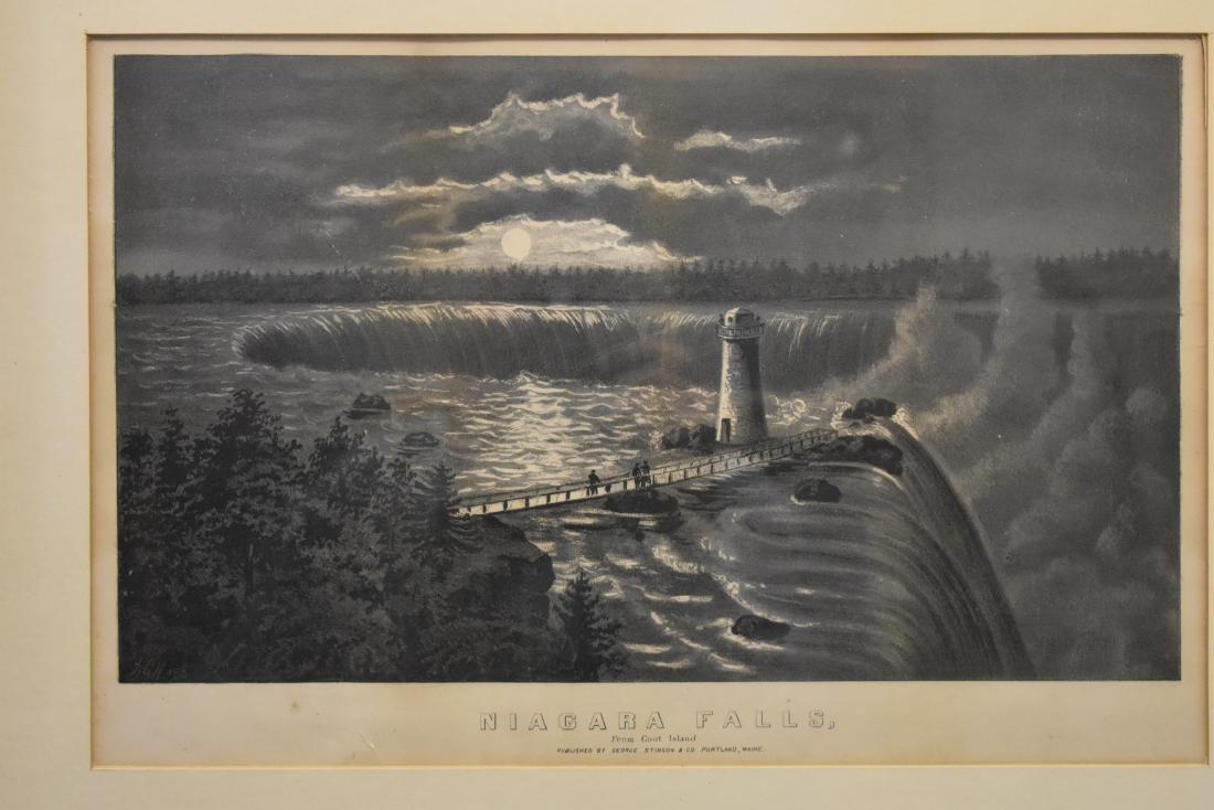 George Stison Print Lithograph of Niagara Falls - 2