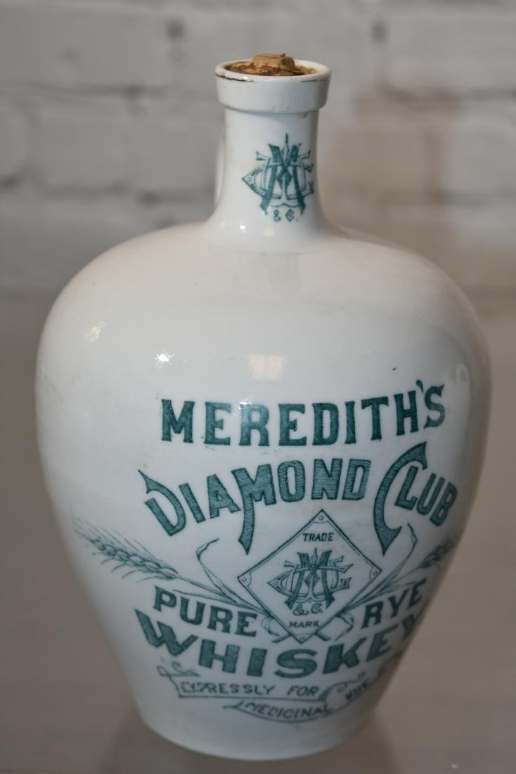 Graduated Meredith's Diamond Club Whiskey Jugs - 3