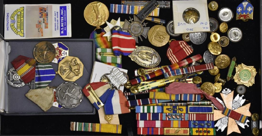 Military Medals and Buttons