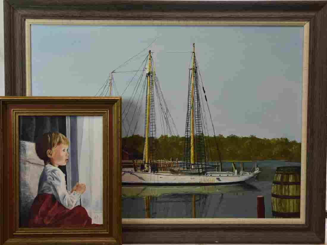 "Two Oil Paintings by ""Jill Raudensky"""